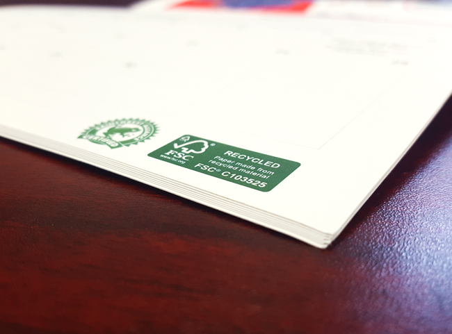 FSC (Forest Stewardship Council®) certified printer